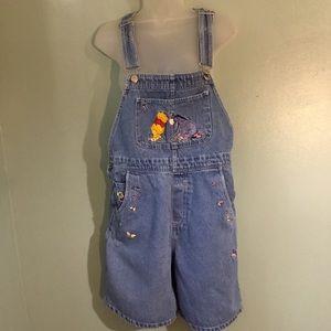 Vintage Disney Winnie the Pooh & Eeyore shortalls